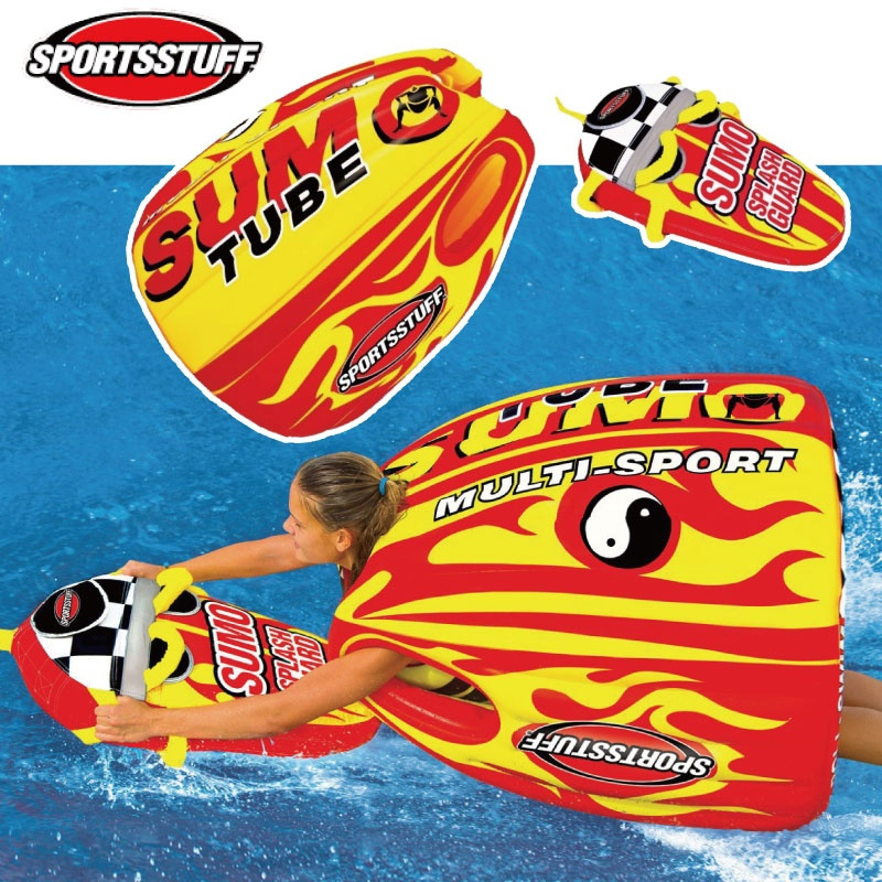 スポーツスタッフ SUMOTUBE スモーチューブ&スプラッシュガードセット ゴムボート 33247 変形チューブ ウォータートーイ トーイングチューブ
