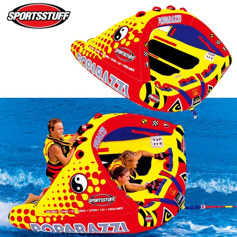 スポーツスタッフ POPARAZZI パパラッチ 定員3名 31295 ゴムボート ウォータートーイ バナナボート トーイングチューブ ジェットスキー