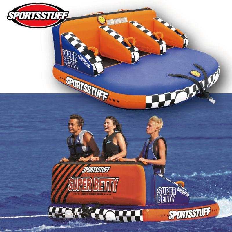 スポーツスタッフ BETTY ベティ 3名 ゴムボート 37031 sportsstuff バナナボート トーイング チューブ WATERTOY 水上バイク ボート