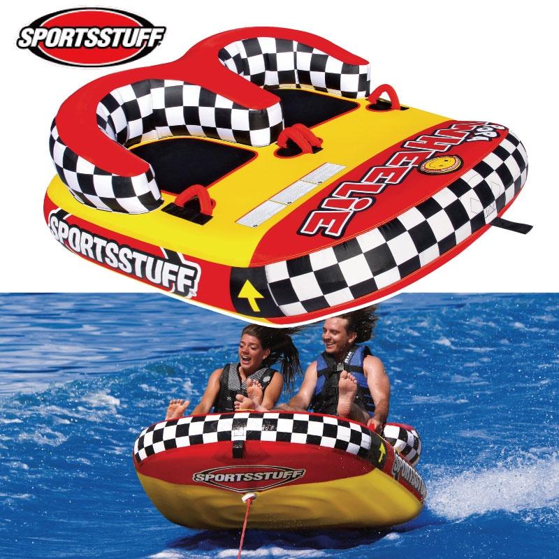 スポーツスタッフ POPA WHEELIE ポパウイリー 2名 ゴムボート 37034 sportsstuff バナナボート トーイング チューブ トーイング 水上オートバイ