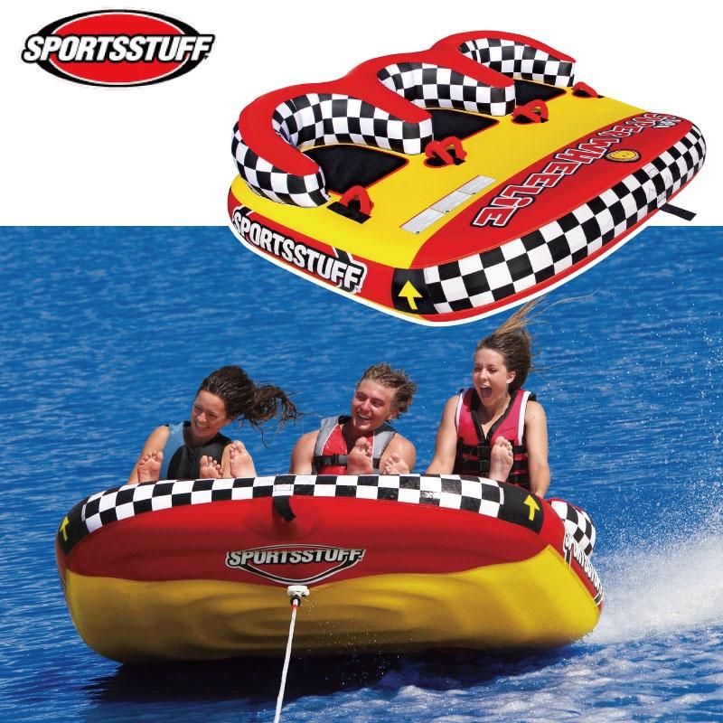 【プレゼント付】スポーツスタッフ POPA SUPER WHEELIE ポパ スーパーウイリー 3名 ゴムボート フロントトーイング 37035 sportsstuff バナナボートトーイング