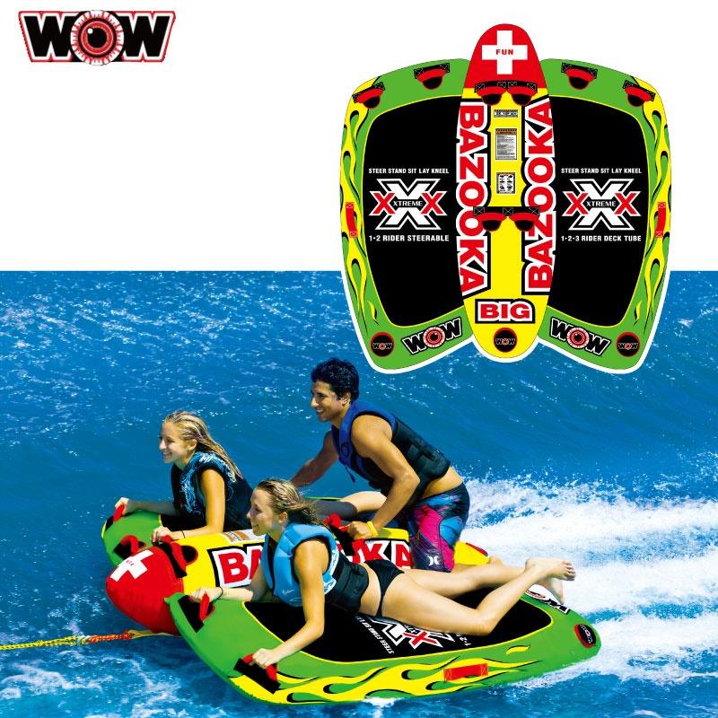 WOW ワオ BIG BAZOOKA ビッグバズーカ 3名 W13-1010 ウォータートーイ バナナボート トーイングチューブ ゴムボート