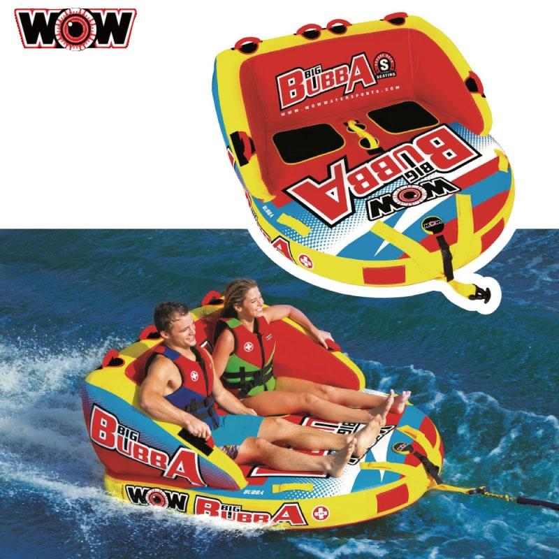 WOW ワオ new BIG BUBBA ニュー ビッグブッバ 2名 W17-1050 ウォータートーイ バナナボート トーイングチューブ 水上バイク ボート ゴムボート