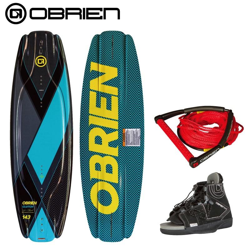 【 3点セット】 オブライアン CLUTCH138cm & CLUTCH OBRIEN クラッチ ウエイクボード 人気ブランド