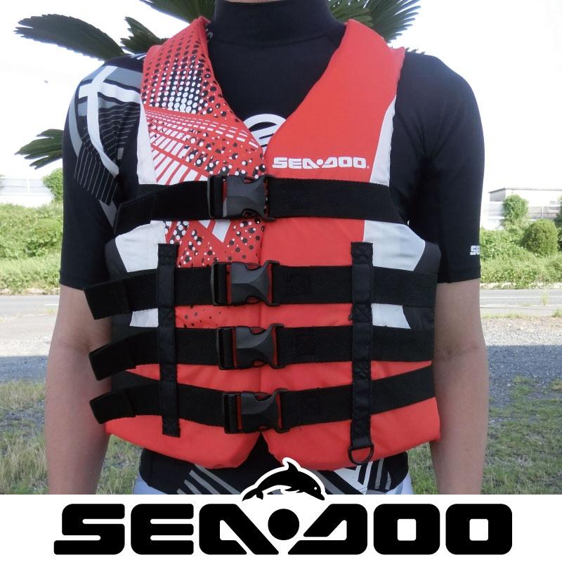 ライフジャケット 男性用 JCI認定 正規品 285876 水上バイク 救命胴衣 メンズ SEA DOO MOTION 救命胴衣 シードゥ マリンスポーツ