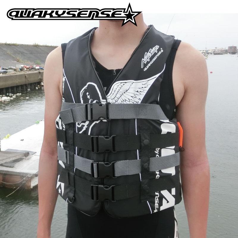 【SALE】ナガイデザイン クエーキーセンス 4バックルナイロン ライフジャケット quakysense フロント ジェットスキー クエーキーセンス 水上 オートバイ