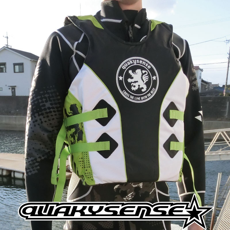 【SALE】 クエーキーセンス ライフジャケット プルオーバー ジェットスキー 水上バイク quakysense サイドエントリーベスト