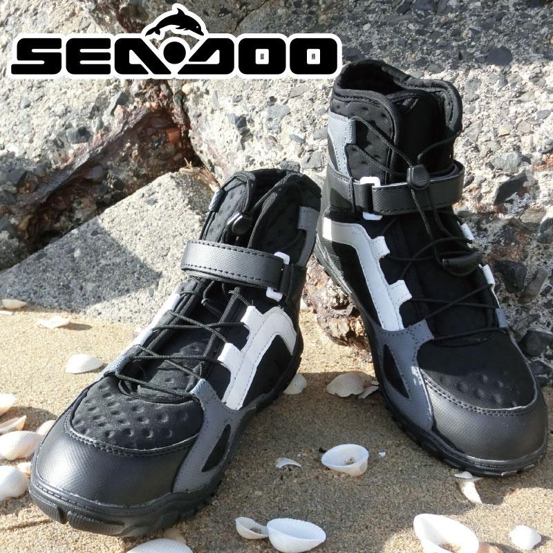 人気 RIDINGBOOTS ライディングブーツ 純正用品 SEA DOOジェットシューズ マリンシューズ 水上バイク ボンバルディア 正規品
