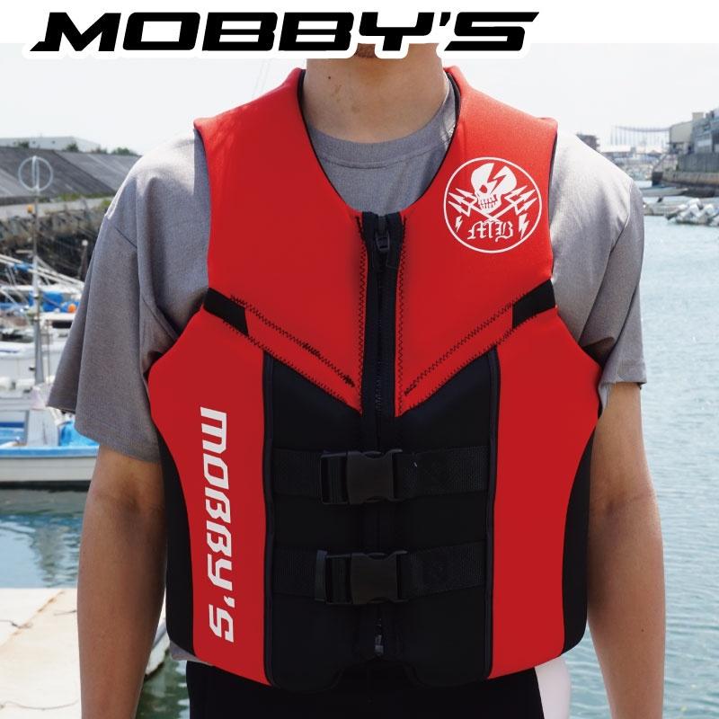 【SALE】 Mサイズ限定 モビーズ ライフジャケット メンズ フロントファスナー ネオプレン JA-74 コーストガード JCI検査ジェットスキー 水上オートバイ 男性