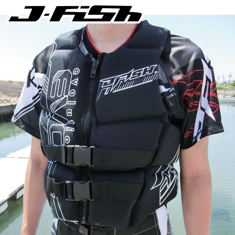【SALE】ジェイフィッシュ ライフジャケット ネオプレン JNV381 ウエット素材 JCI予備検査認定 ジェットスキー水上バイク 水上オートバイ