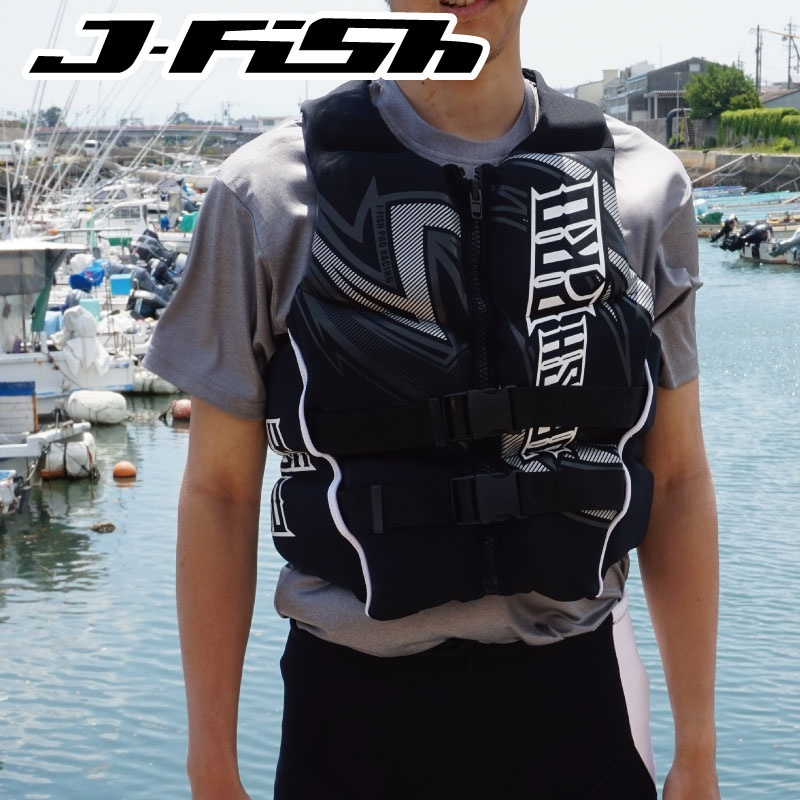 【37%OFF】 JNV-382 ジェイフィッシュ ライフジャケット ネオプレン ウエット JCI予備検査承認 ジェットスキー 水上バイク 水上オートバイ