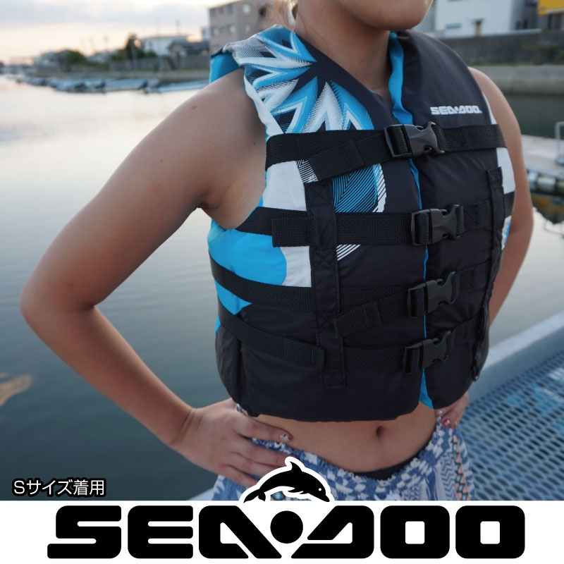 ライフジャケット 女性用 JCI認定 ナイロン 正規品 水上バイク 救命胴衣 ウイメンズSEA DOO MOTION 救命胴衣 シードゥ マリンスポーツ
