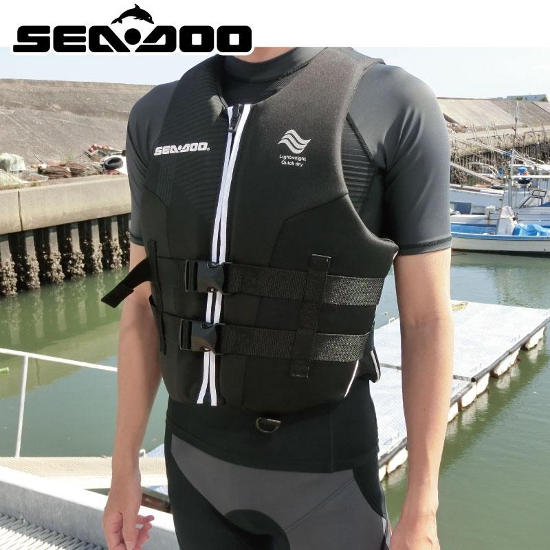 シードゥ メンズ AIRFLOW PFD JCI認定OK ライフジャケット 正規純正品 285870 BOMBERDIER 水上オートバイ SEADOO 救命胴衣 BRP
