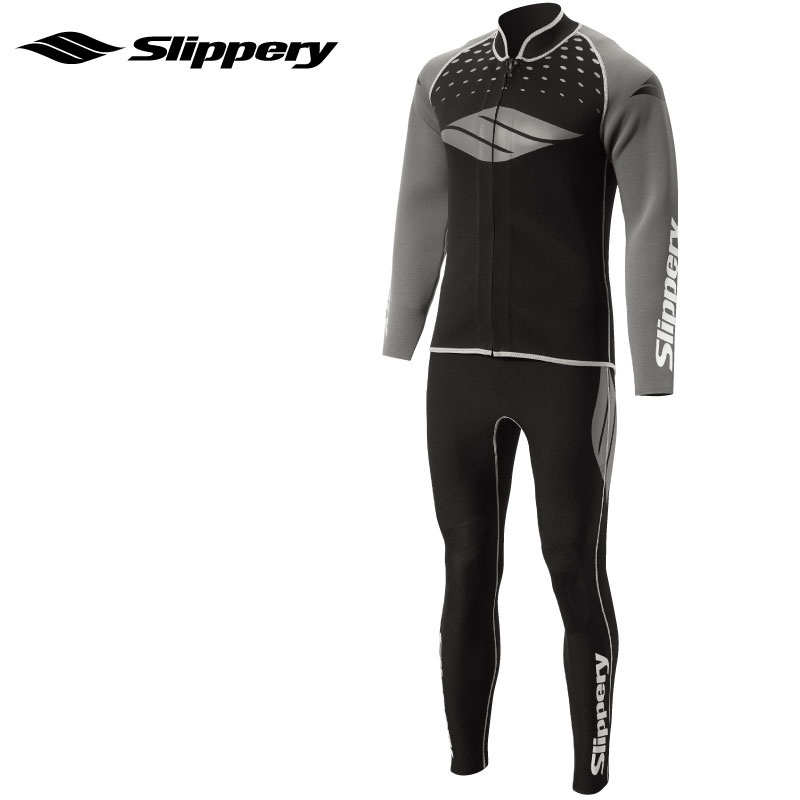 【SALE】スリップリー ウエットスーツ BREAKER 2  ブレーカースーツ ロングジョン&ボレロ 2点 メンズ SLIPPERY 水上オートバイ