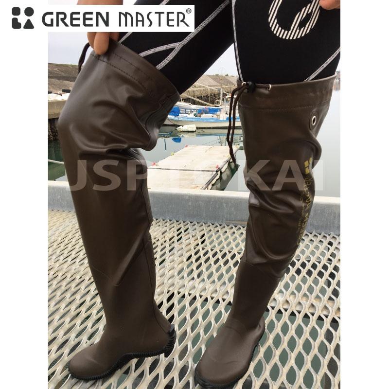 2625 GREEN 在庫一掃売り切りセール MASTER ロングラバーブーツ70 ブーツ 販売 グリーンマスター 長靴 漁業 メンズ 防水 アウトドア 園芸 農業 レディース