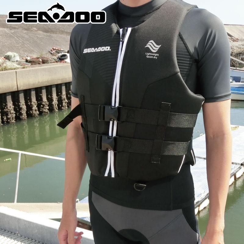 【SALE】シードゥ メンズ AIRFLOW PFD JCI予備検査承認 ライフジャケット 正規純正品 285870 BOMBERDIER 水上オートバイ SEADOO 救命胴衣 BRP