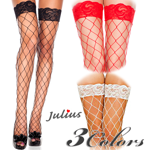 a4f45c0d578 Julius rakutenichibaten  □Big diamond net Thailand high stockings   knee  high   network tights  JML4925 that the color three colors race top is glad  ...