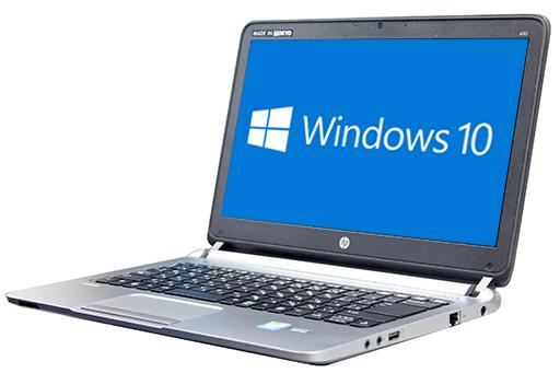 【中古パソコン】☆【Windows10 64bit搭載】【HDMI端子搭載】【デュアルコア搭載】【メモリー4GB搭載】【HDD320GB搭載】【W-LAN搭載】【中野店発】 HP ProBook 430 G1 (2056524)