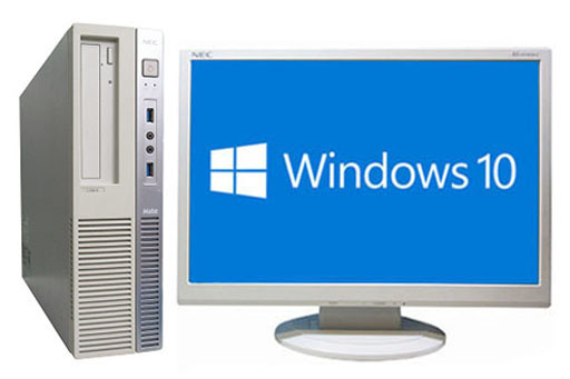 【中古パソコン】【液晶セット】【Windows10 64bit搭載】【Core i5 4590搭載】【メモリー4GB搭載】【HDD1TB搭載】【DVDマルチ搭載】 NEC Mate MB-N (1294421)