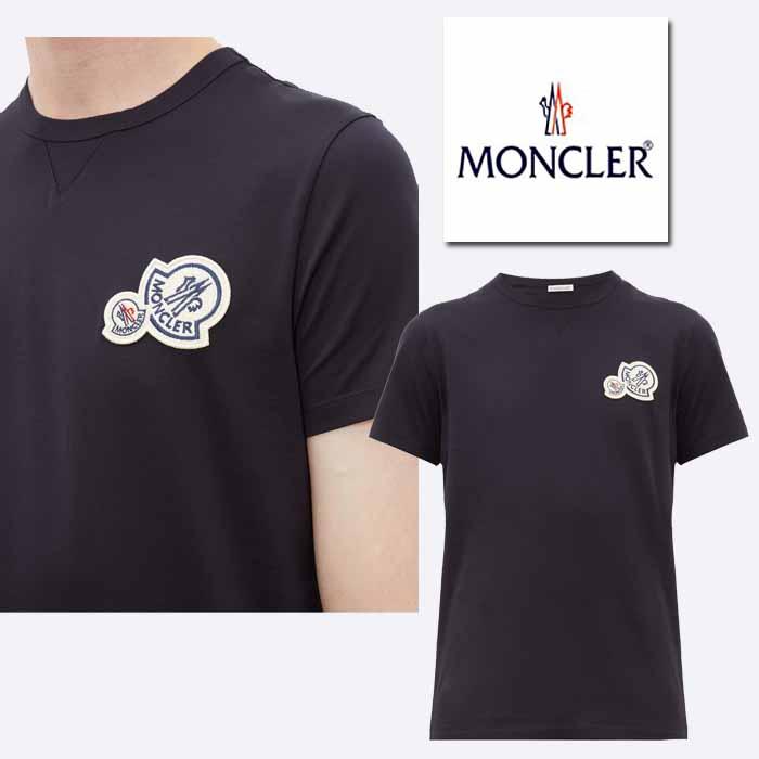 モンクレール MONCLER ダブルロゴ コットンTシャツ ネイビー
