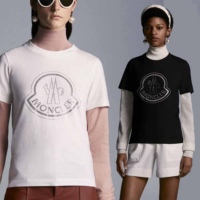 送料無料 モンクレール MONCLER ピュアコットンTシャツ 倉庫 ブラック 2020春夏新作 ホワイト G20938C00008829FB