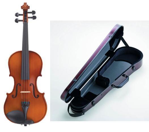 ■ バイオリンカーボンケース+バイオリンVS-1他付 カルロ・ジョルダーノ