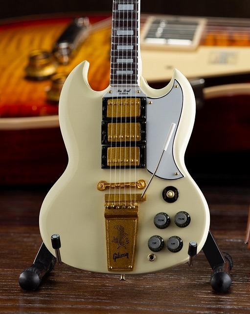 ミニチュア ギター 男女兼用 ギブソン 1964 SG Custom White HEAVEN AXE 国内正規総代理店アイテム