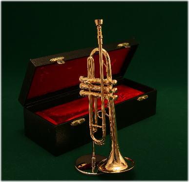 トランペットの楽しさを充分に表現しています ミニチュア楽器 70%OFFアウトレット 内祝い トランペット 1 4サイズ