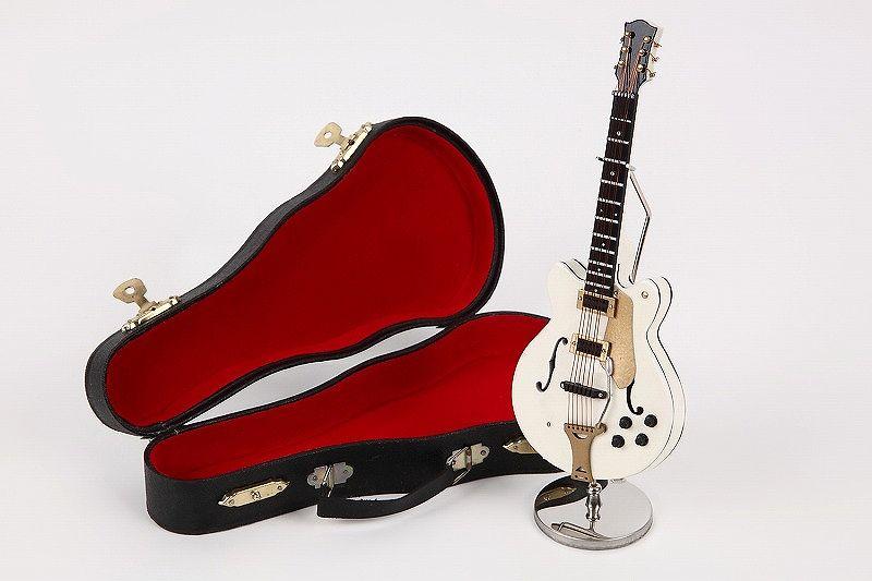 細工が巧妙です ■ミニチュア楽器 エレキギター GE47w 贈呈 お買得 17Cm