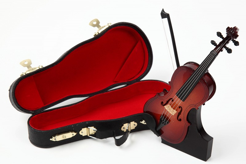 <BR>■ミニチュア楽器 バイオリン 15cm