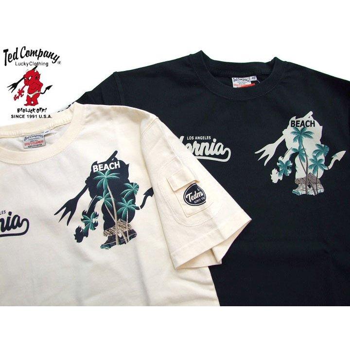 エフ商会2021年新作テッドマンの夏Teeはカリフォルニア テッドマン tシャツ メンズ 半袖Tシャツ TDSS-529 サーフtシャツ 品質保証 5☆好評 カリフォルニア 2021tシャツ TEDMAN'S