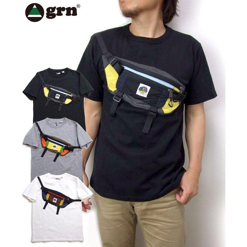 NEW grn 服 ポケットTシャツ入荷 tシャツ 2021 ご予約品 ジーアールエヌ半袖tシャツ GU121121F BAG パッグモチーフTシャツ TEE U.S. BODY MOTIF 日本限定 COTTON アウトドアtシャツ