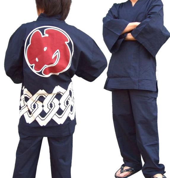粋 新品未使用 な男の夏衣装をご堪能下さい 作務衣 上下セット 火消柄の作務衣登場 火消柄 日本産 め