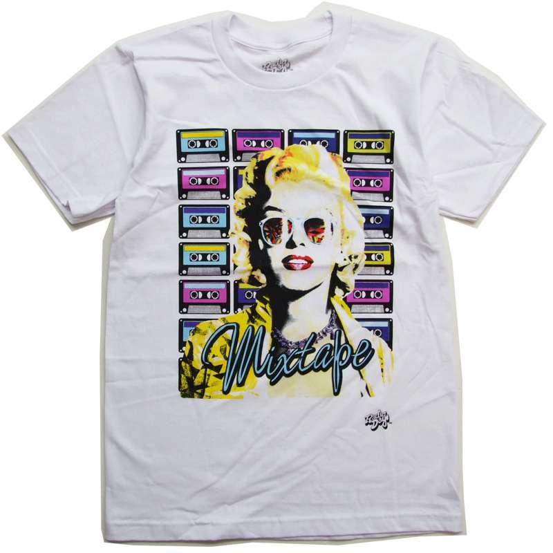 新着 アメリカ インポート tシャツ マリリンモンロー Tシャツ カセットテープ RDMM01 ついに再販開始 US 2020 モンロースマイル