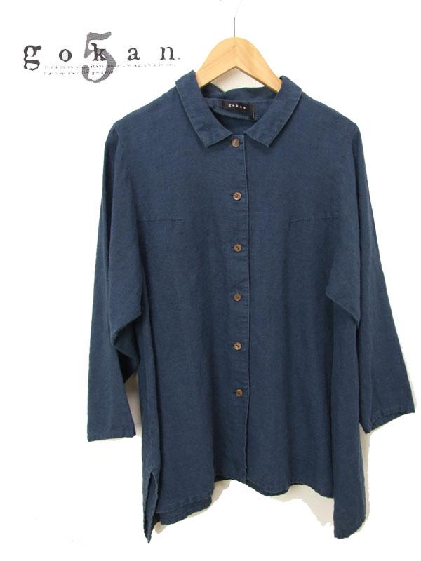 贅沢な大麻 ヘンプ 100%のチュニック丈シャツ シャツ チュニック レディース gokan 大放出セール g4169 五感 ブラウス 麻 高級麻の上品な 長袖 ロングシャツ 有名な