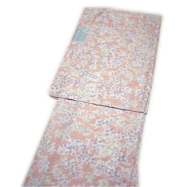 セール SALE 着物 洗える仕立て上がり高級小紋(単衣:ピンク地/桜柄/Mサイズ)国内染め生地