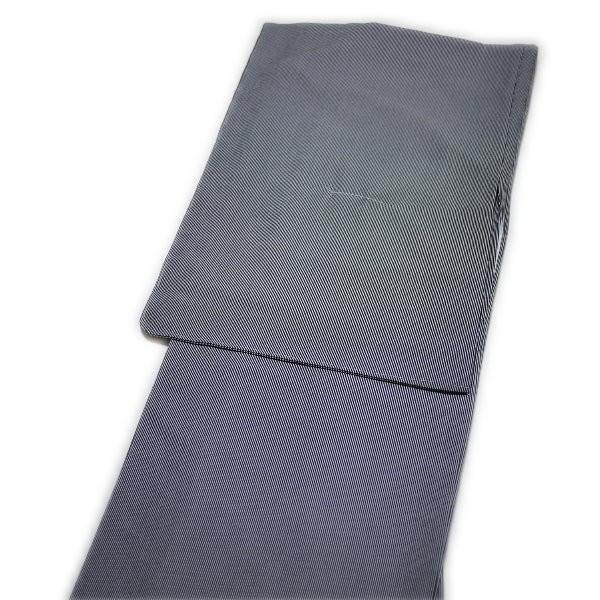 着物 洗える仕立て上がり高級江戸小紋(単衣:黒地:万筋柄:Mサイズ)国内染め生地