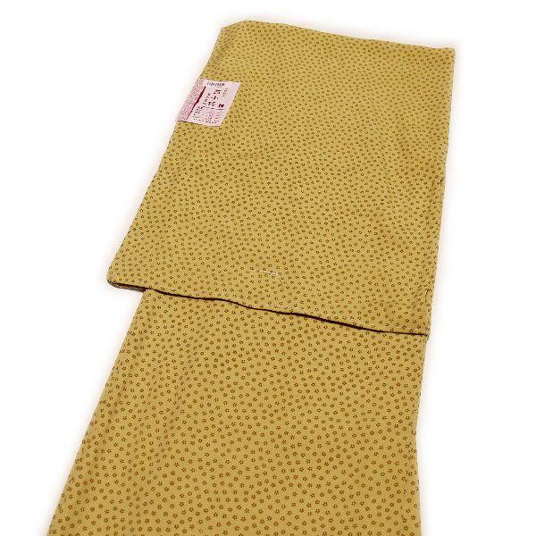 着物 洗える仕立て上がり高級江戸小紋(単衣:からし色/小桜/Lサイズ)