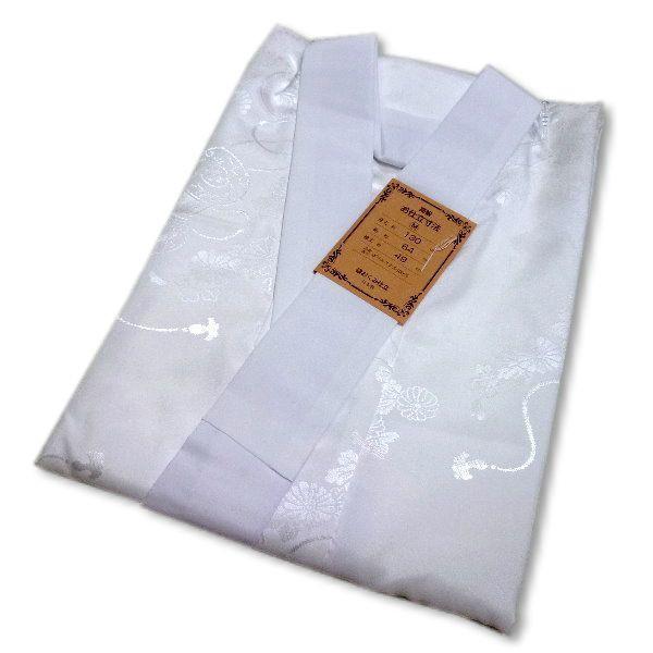 長襦袢 白 洗える 仕立て上がり (白綸子) S/M/L/LL 日本製 衣紋抜き付き