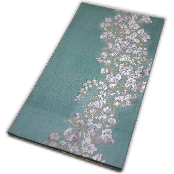 特選正絹袋帯 夏用 京都西陣織 仕立て上がり 紹巴織(枝垂れ藤柄)礼装:フォーマル 日本製