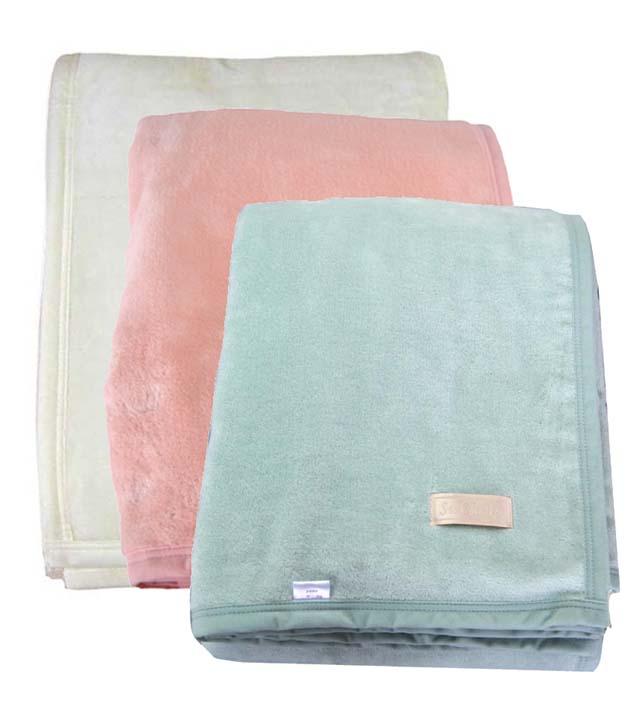 キングサイズの日本製シール織綿毛布[毛羽部分]