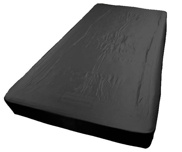 19匁シルクベッドボックスシーツ(ダブル)ブラック