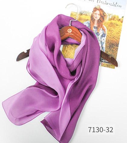高品質 シルク ロング スカーフ レディース シルク100% 絹 プレゼント グラデーション ストア パープル シルクスカーフ 紫外線対策 UVカット