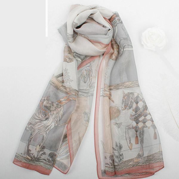 シルク スカーフ 超特価SALE開催 レディース シルク100% 絹 紫外線対策 美品 プレゼント シルクスカーフ ロング UVカット