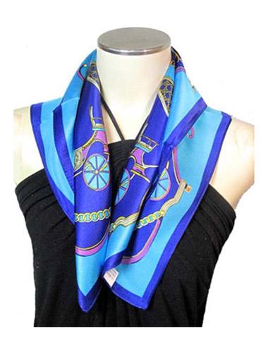 スカーフ シルク アニマル レディース WEB限定 シルク100% 絹 プレゼント UV 馬車柄 プチ シルクスカーフ 紫外線 大決算セール