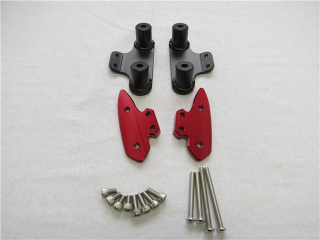 XMAX x-max xmax ミラー車体移設 ミラーボディマウントブラケットセット 赤