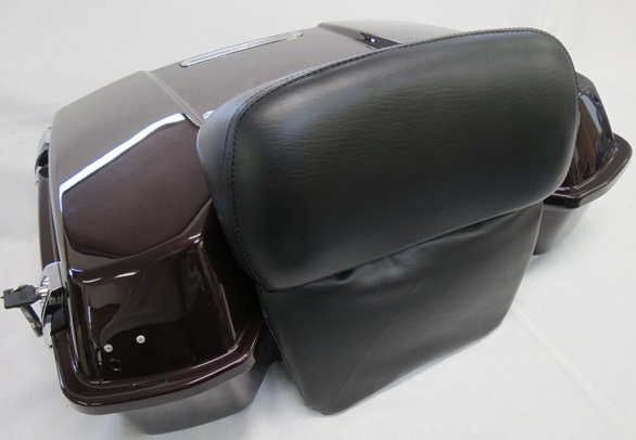 harleyツーリング ツアーパックセット薄型キーバックレストありn ワインレッド
