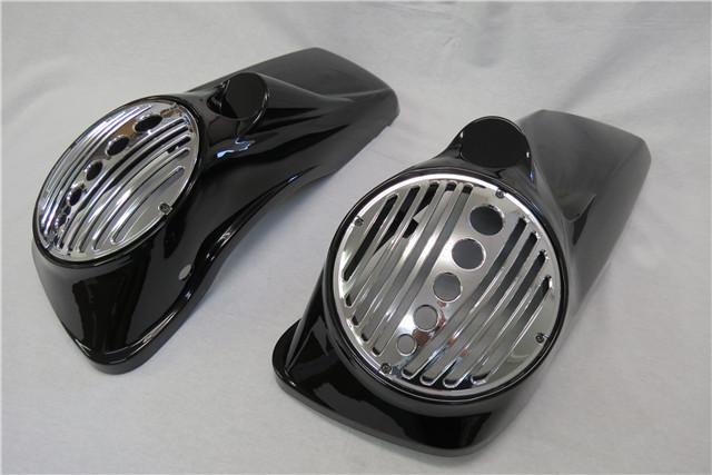 バイク 部品 パーツ スクーター 格安 harley ハーレー ツーリング サドルスピーカー タイムセール リッドオーディオ 2014- 8インチ 8.5インチ 蓋 新作からSALEアイテム等お得な商品満載 メッキあり Aタイプ