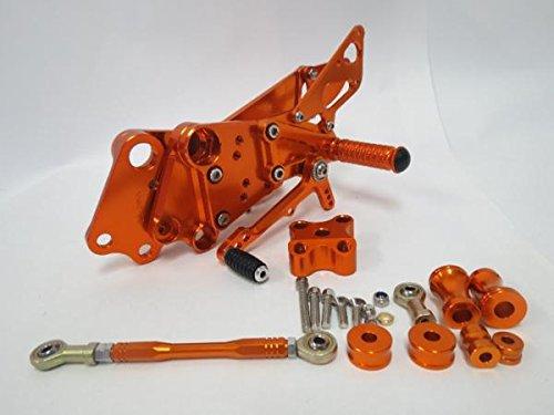 KTM 125 200 390 デューク duke 12-15年 バックステップ CNC 橙