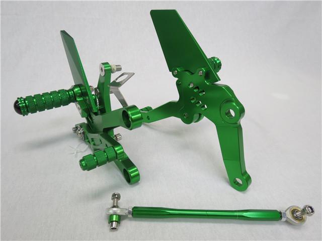 NINJA250 NINJA400 ニンジャ 2018- CNC 調整式 バックステップ 緑